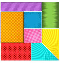 Comic book page background vector