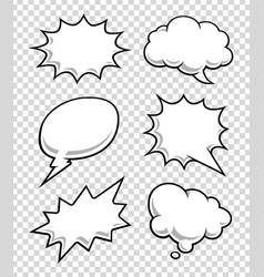 comic speech bubbles vector image