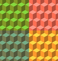 Cube set of seamless backgrounds vector image