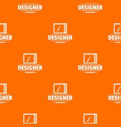 Designer shop pattern orange vector