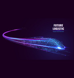 Digital image future logistics concept vector