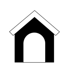Dog house silhouette vector