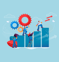 Flat desire to perform quality teamwork vector