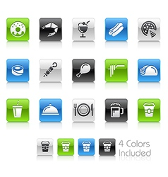 Food Icons 2 Clean Series vector image