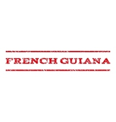 French Guiana Watermark Stamp vector image