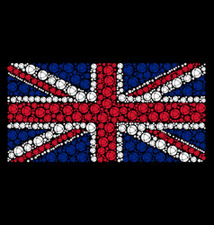 great britain flag collage of internet icons vector image