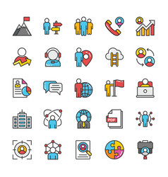 Human resource icons set 4 vector