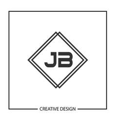 Initial jb letter logo template design vector