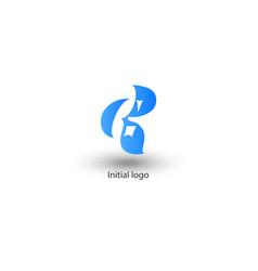 initial letter g r design vector image