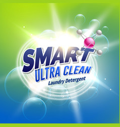 Laundry detergent advertising concept design for vector