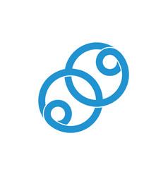 Linked loop circle ring logo vector
