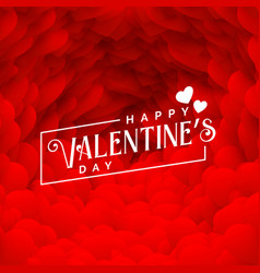 Lovely red hearts backdrop for happy valentines vector