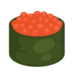 Maki sushi with caviar vector