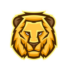 mascot stylized lion head vector image