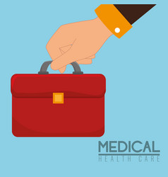 medical kit handle icon vector image