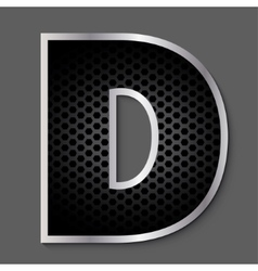 Metal grid font - letter vector