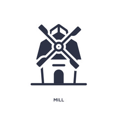 Mill icon on white background simple element from vector
