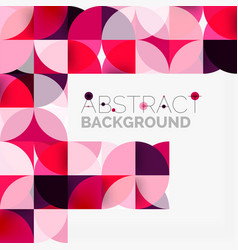 Modern geometrical abstract background circles vector
