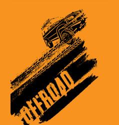Offroad car image vector