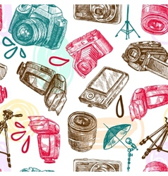 Photo seamless pattern vector image