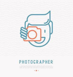 photographer thin line icon vector image