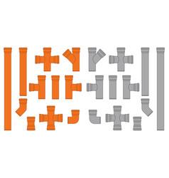 pipe connectors vector image
