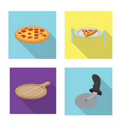 pizza and food logo vector image