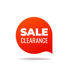 Red speech bubble sale clearance vector