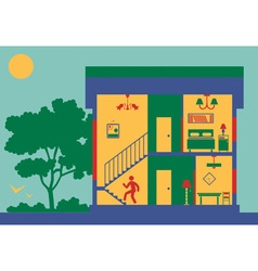 section of house vector image