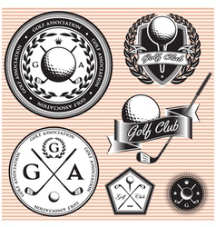 set of emblems to topic golf game vector image