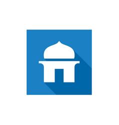 simple mosque icon islamic icon design vector image
