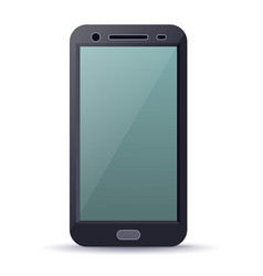 Smartphone device with blank screen vector
