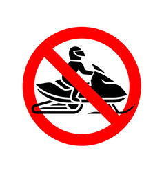snowmobiles are prohibited sign no snow mobile vector image