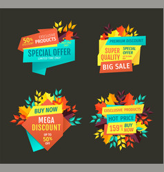 Special offer and mega discount vector