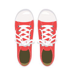 sports shoes gym shoes keds red colors for vector image