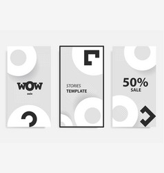 Stories template for mobile phone social vector
