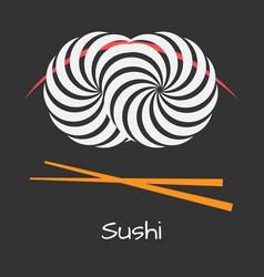 sushi logo concept vector image