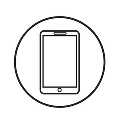 thin line mobile phone icon design vector image