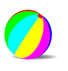 Toy ball color vector