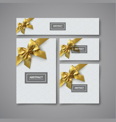 white gift stationery design template vector image