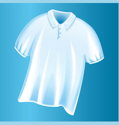 white tshirt icon realistic style vector image