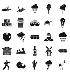 care of nature icons set simple style vector image