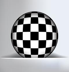 Check Globe Slit Background vector image
