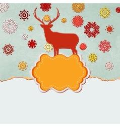 Christmas deer design template EPS 8 vector image