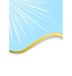 blue beautiful background with golden rim vector image vector image