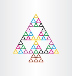 christmas tree happy new year symbol witg vector image