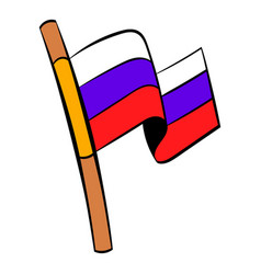 flag of russia icon cartoon vector image vector image
