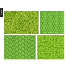 Foliage seamless patterns set vector image vector image