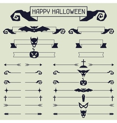 Halloween collection of design elements vector image vector image