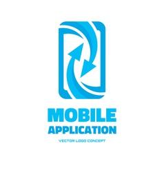 Mobile phone - logo concept vector image vector image